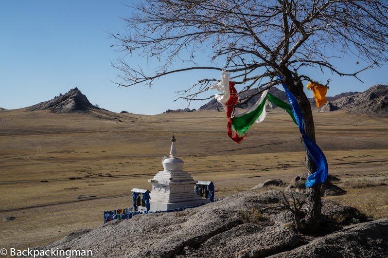 Buddhist stupa in Mongolia.