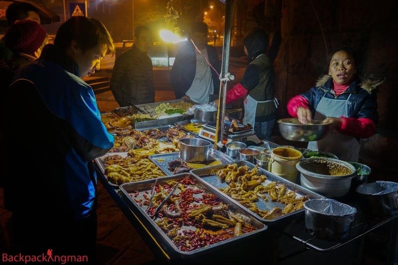 Street food in China.