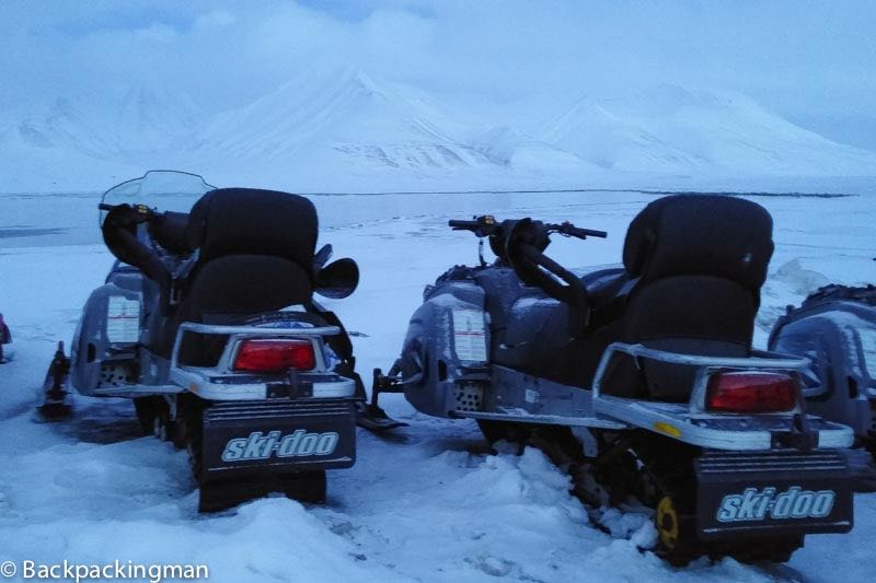 Snow mobile in Svalbard