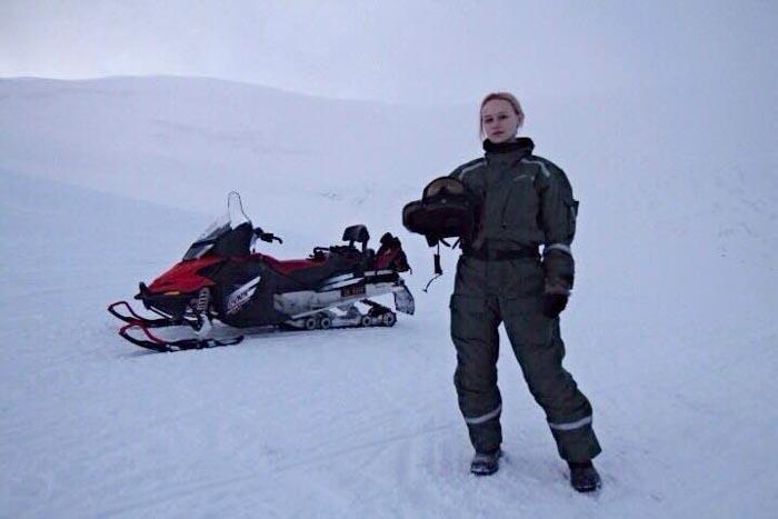 Snow mobile in Svalbard