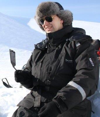 Man in Svalbard