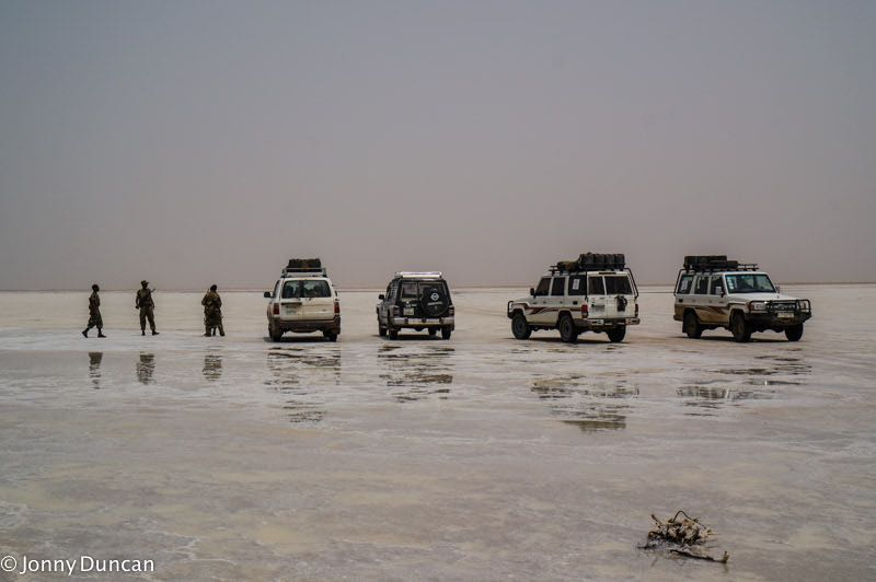 On tour in the Danakil Depression of Ethiopia