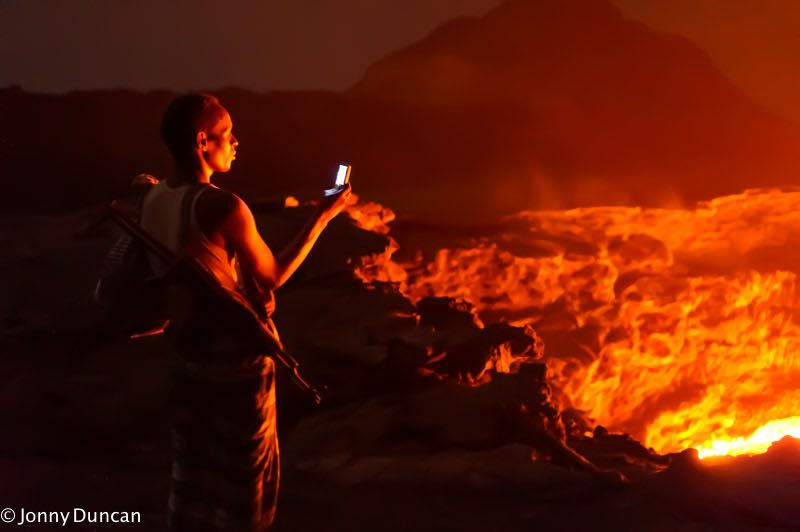 Soldier in Danakil Depression.