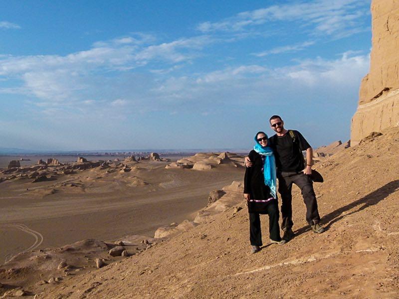 Nick and Dariece at Kaluts outside of Kerman