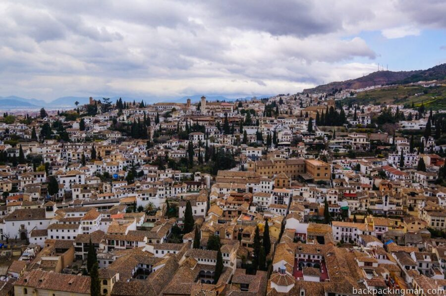 View of Granada old town.