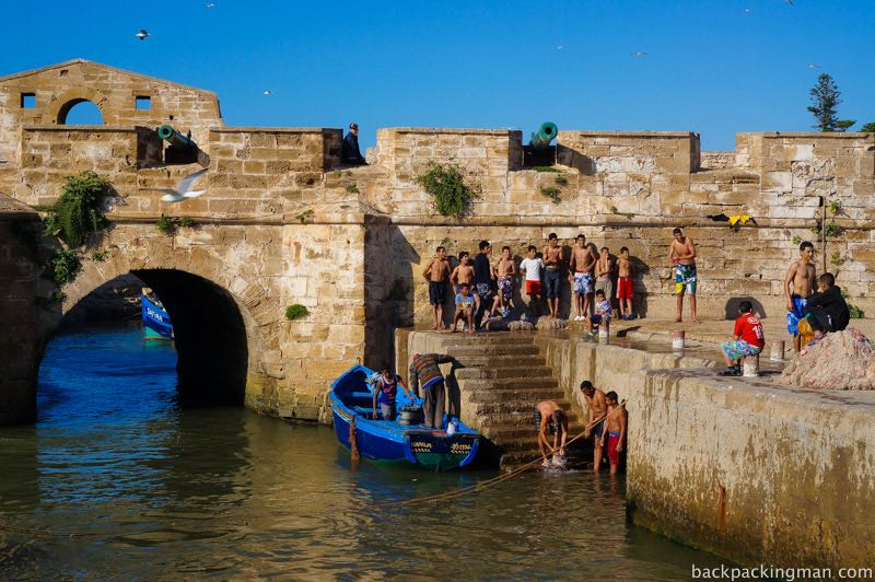 Swimming Essaouira.