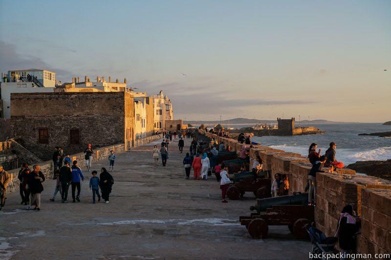 City wall Essaouira.