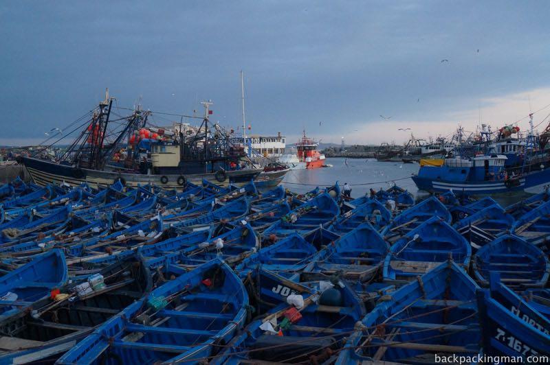Fishing boats Essaouira.