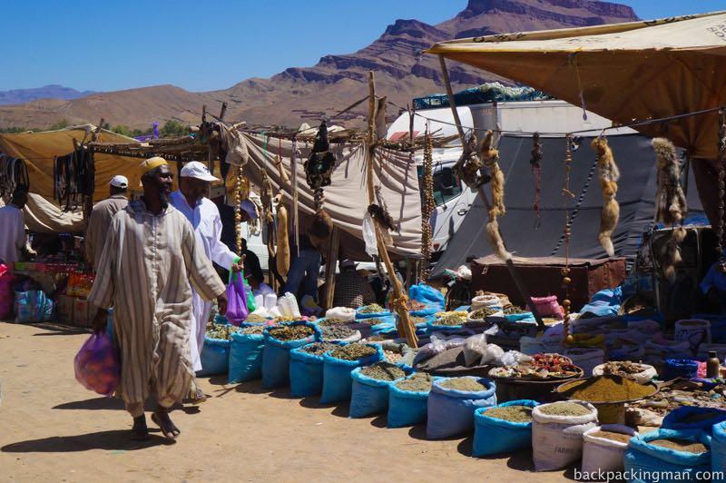 Market in Agdz Morocco