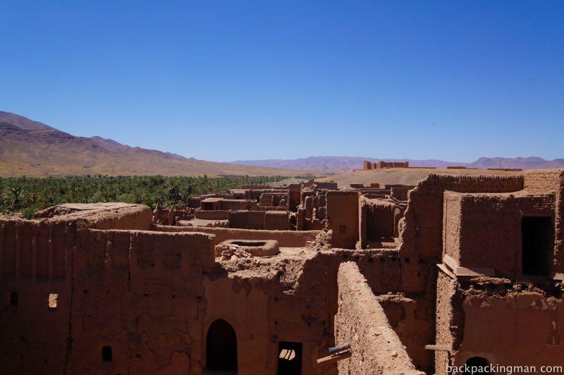 Kasbah in oasis Draa Valley