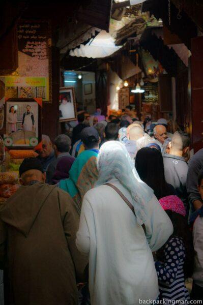 Fes medina shopping non tourists