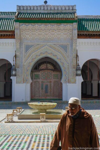 Man in mosque in Fes