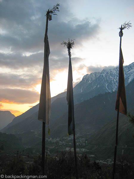 sikkim sunset