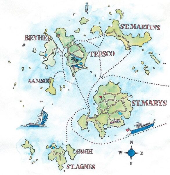 ISLES OF SCILLY MAP