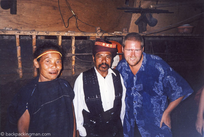 Blessed By A Tribal High Priest In Bajawa Indonesia