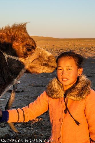Nomad girl in Mongolia.