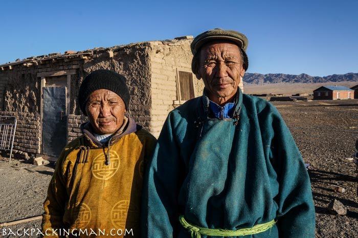 Nomads in the Gobi Desert, Mongolia.
