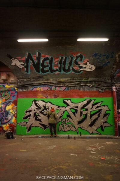 leake street graffiti