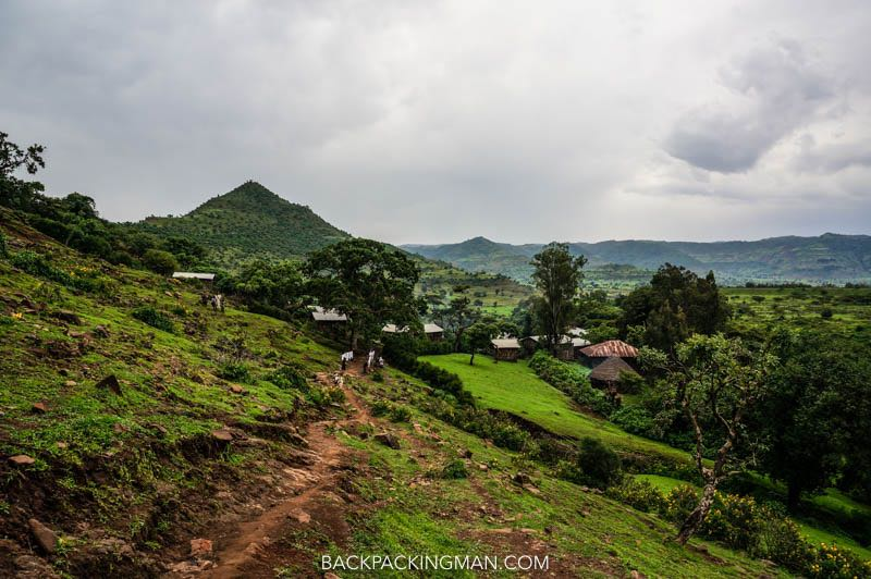 hiking in ethiopia at blue nile