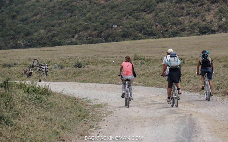 cycling hells gate national park in kenya