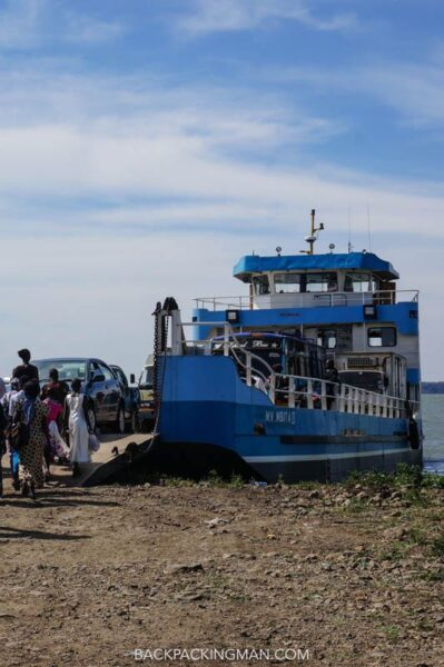 ferry on lake victoria in kenya