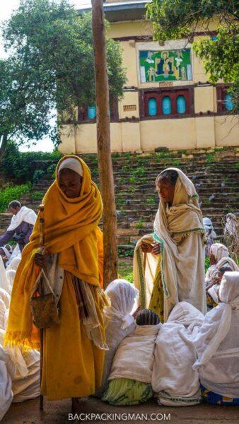 praying at church in ethiopia