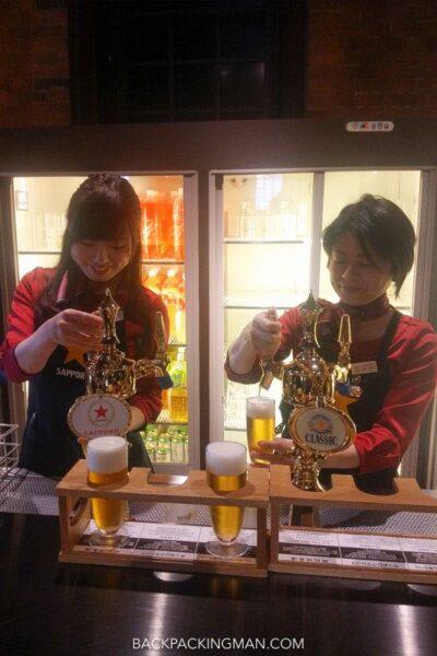 beer tasting in sapporo