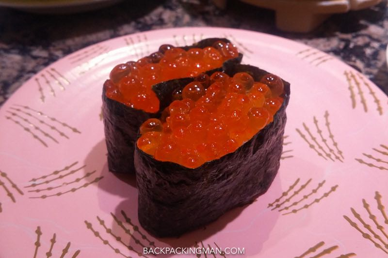 salmon-roe-sushi Japanese food