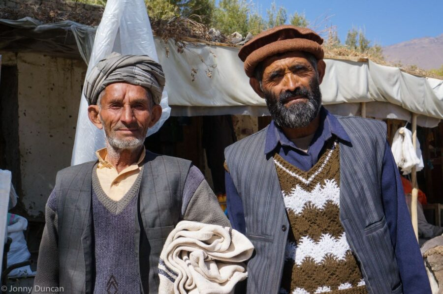 Afghan men in Ishkashim.