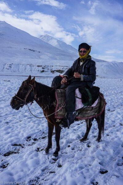 Kyrgyz horseman in the Little Pamir.