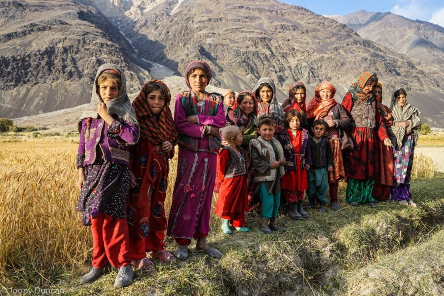 Families in the Wakhan Valley.