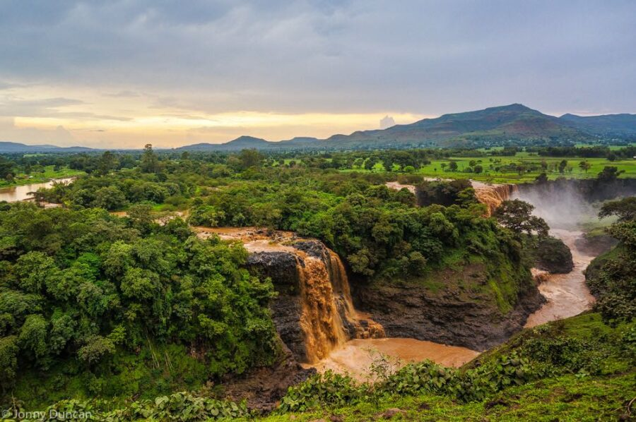 Blue Nile falls backpacking Ethiopia