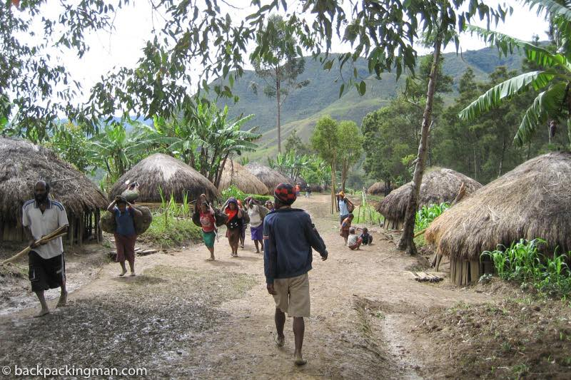 Baliem Valley village Dani Tribe