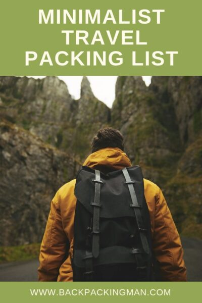 minimalist travel packing