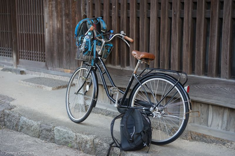 Bicycle on day trip from Osaka to Nara.