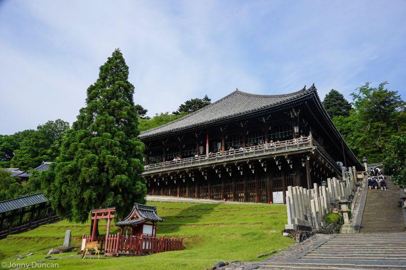 Nara temple on day trip from Osaka.