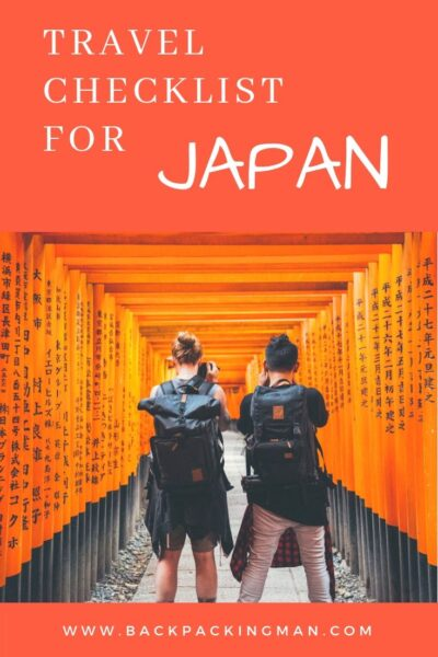 Japan travel checklist