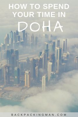 Doha city from air