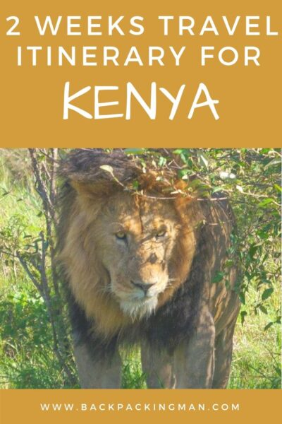 backpacking Kenya on a budget itinerary