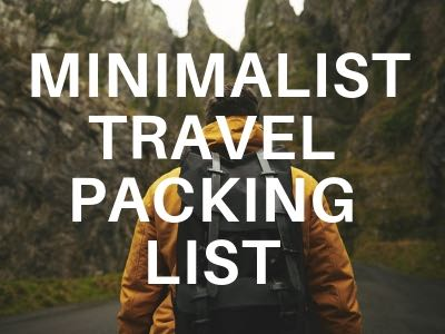minimalist travel