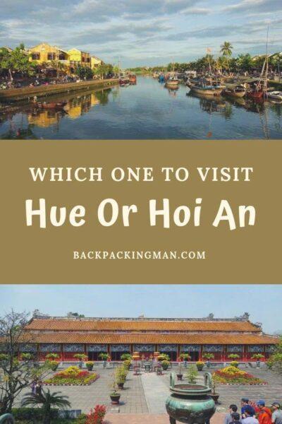 hue or hoi an vietnam