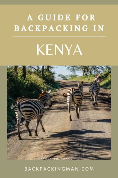 BACKPACKING IN KENYA ZEBRAS