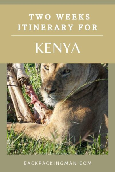 KENYA BACKPACKING ITINERARY