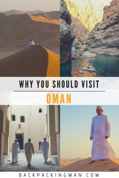 backpacking Oman trip