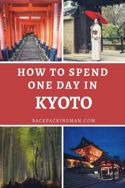 one day in Kyoto Japan