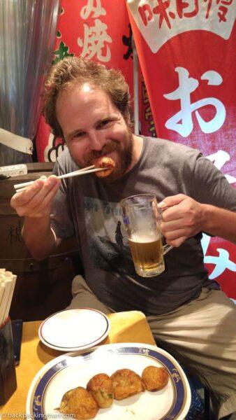 osaka Takoyaki street food