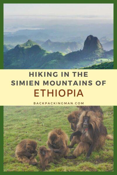 hiking simian mountains Ethiopia travel