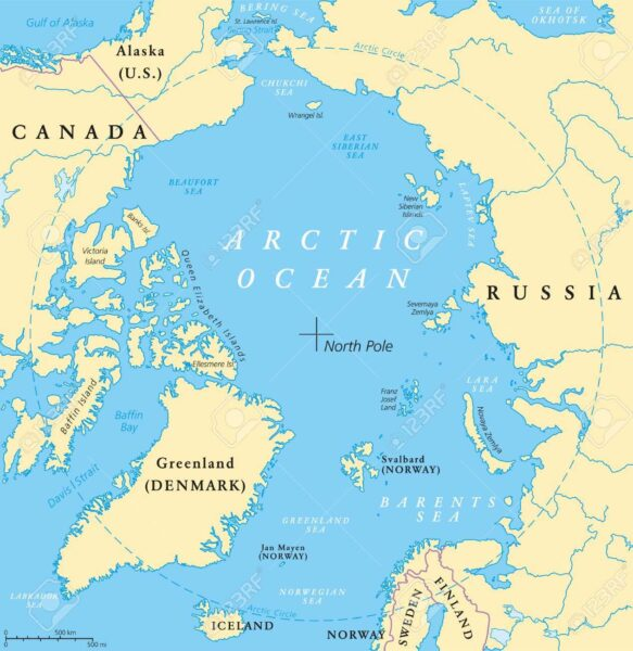arctic circle map
