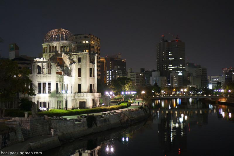 osaka to hiroshima at night