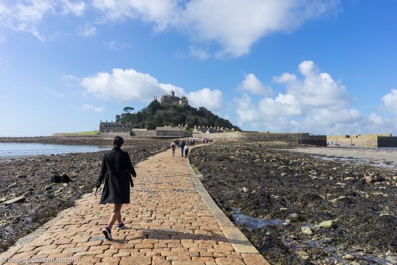 st Michaels mount Cornwall causeway